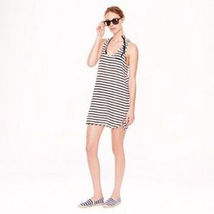 J Crew | Navy and White Striped Racerback Cover up